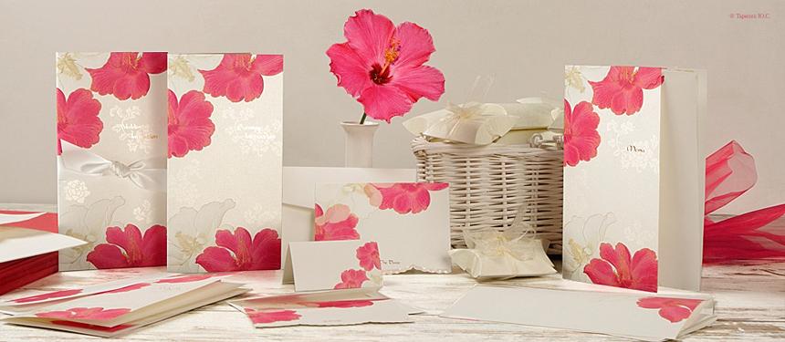 пригласительные на свадьбу с яркими цветами